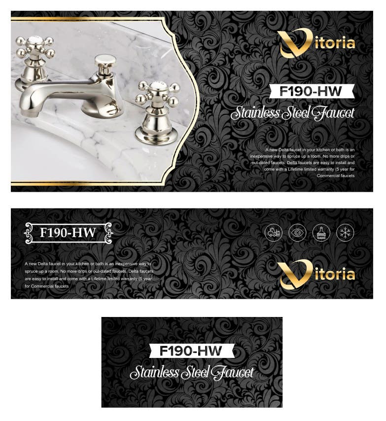 Contest Entry #                                        31                                      for                                         Create Packaging Designs for a High End Faucet Carton