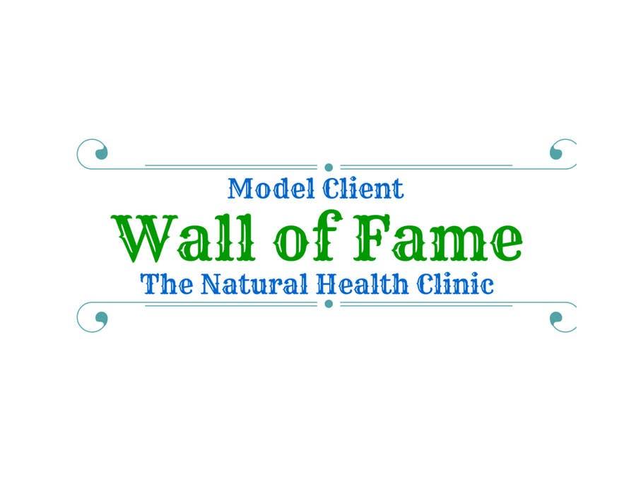 Konkurrenceindlæg #10 for Wall of Fame