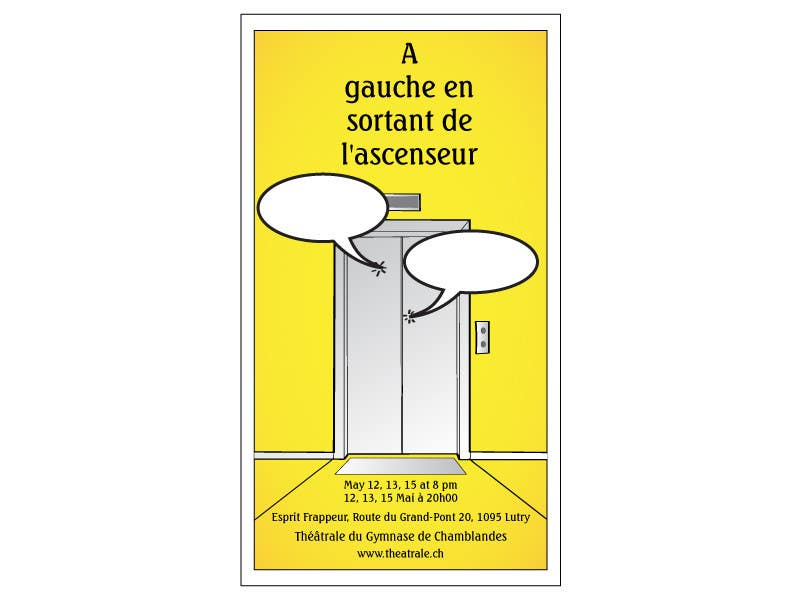 Proposition n°                                        9                                      du concours                                         Design a Flyer for Theatrical Comedy