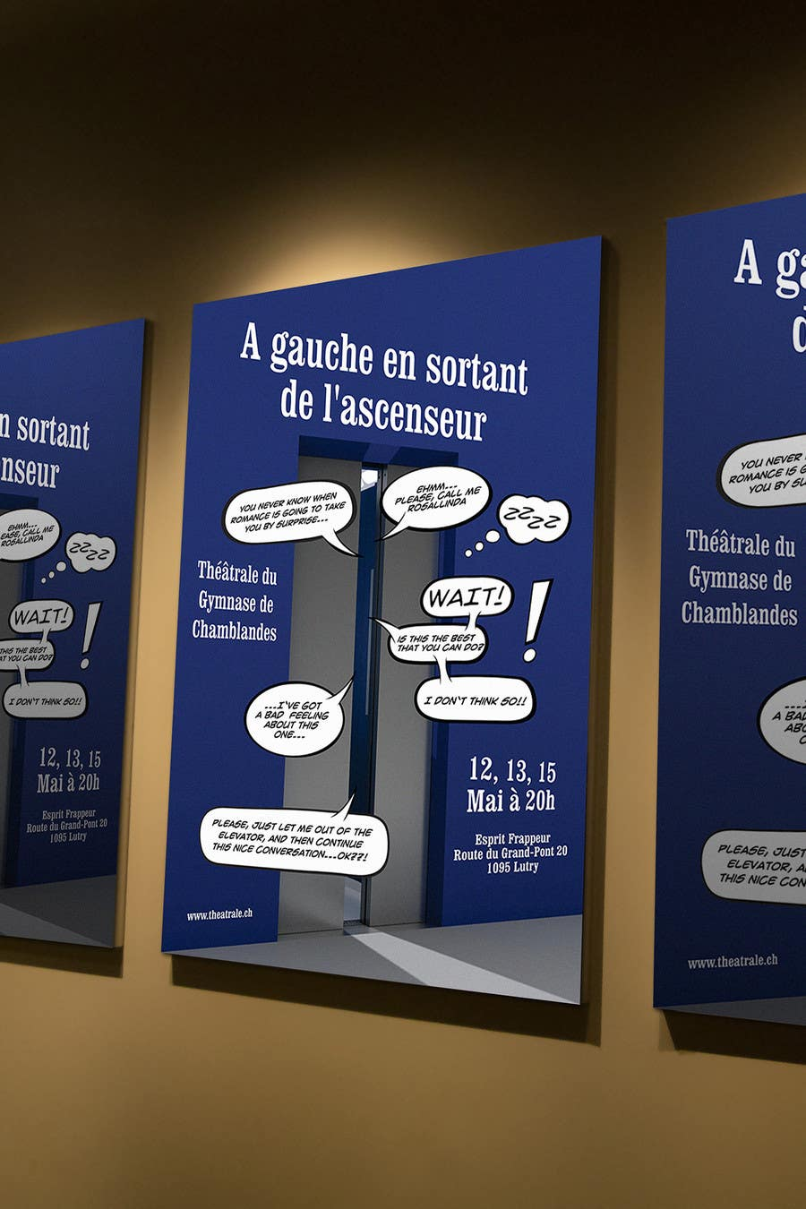 Proposition n°                                        21                                      du concours                                         Design a Flyer for Theatrical Comedy