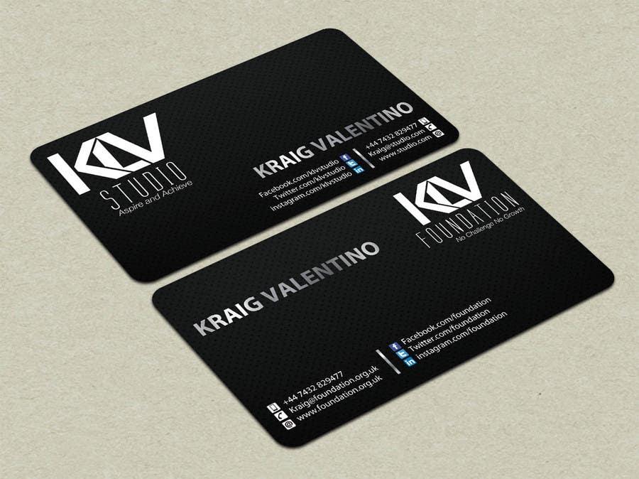 Konkurrenceindlæg #                                        196                                      for                                         Design some Business Cards for KLV Studio