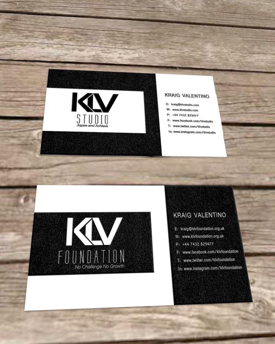 Konkurrenceindlæg #                                        106                                      for                                         Design some Business Cards for KLV Studio