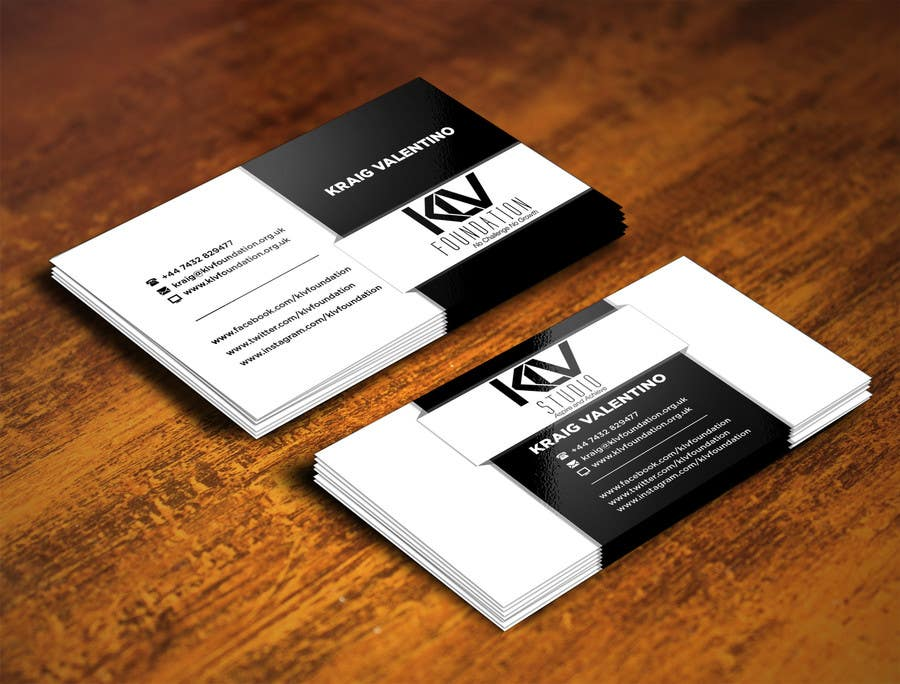 Konkurrenceindlæg #                                        186                                      for                                         Design some Business Cards for KLV Studio