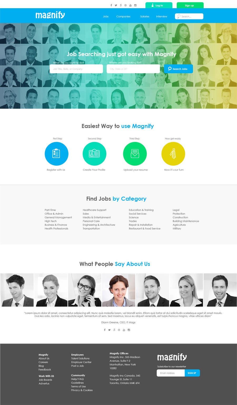 Konkurrenceindlæg #11 for Design a Website Mockup for a Job Search Engine