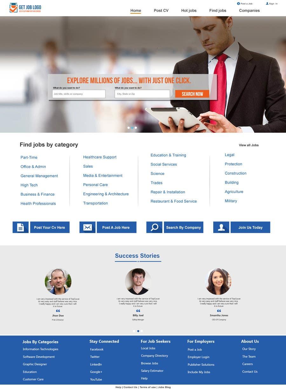 Konkurrenceindlæg #26 for Design a Website Mockup for a Job Search Engine