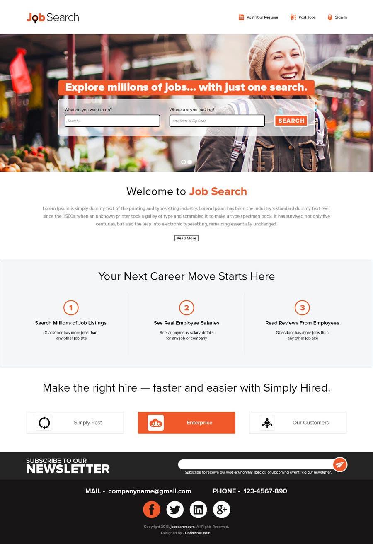 Konkurrenceindlæg #42 for Design a Website Mockup for a Job Search Engine