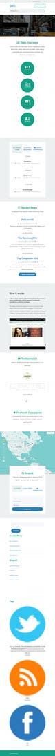 Konkurrenceindlæg #16 billede for Design a Website Mockup for a Job Search Engine