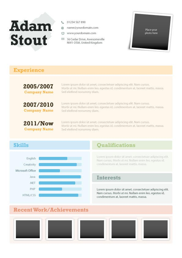 #5 for Premium Quality Resume Design (PSD) - I'LL SELECT MULTIPLE WINNERS! by vikramv91