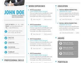 #11 for Premium Quality Resume Design (PSD) - I'LL SELECT MULTIPLE WINNERS! af yugi1986