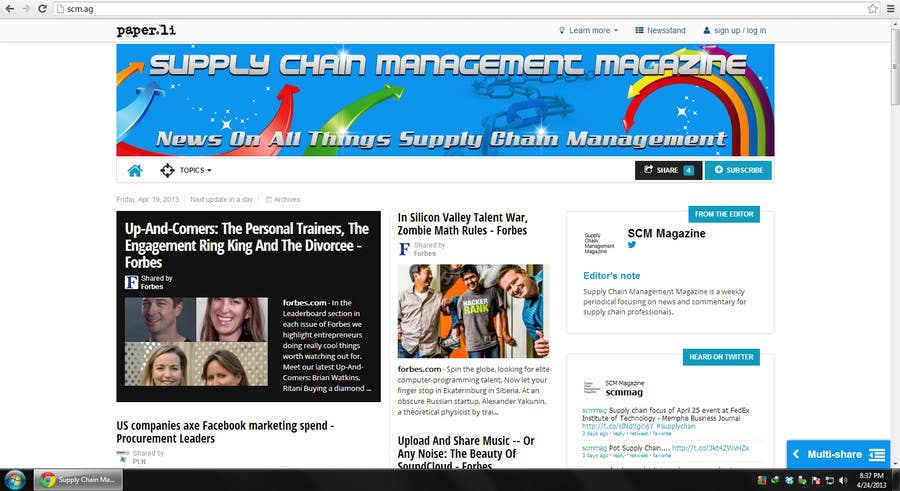 Kilpailutyö #48 kilpailussa Banner Ad Design for Paper.li site