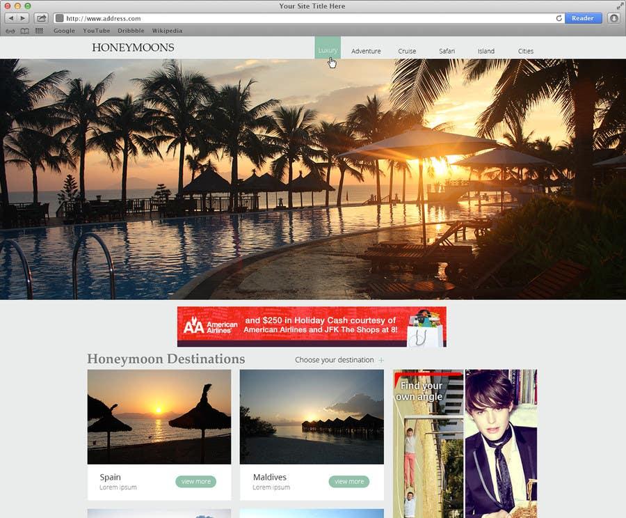 Penyertaan Peraduan #                                        50                                      untuk                                         Website Design for Honeymoons website