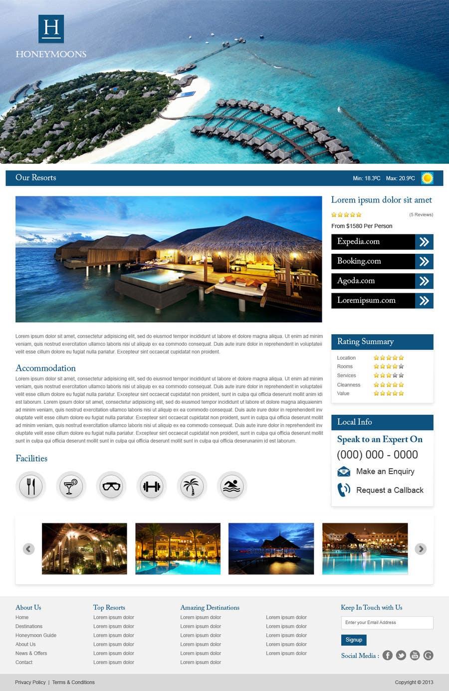 Penyertaan Peraduan #                                        43                                      untuk                                         Website Design for Honeymoons website