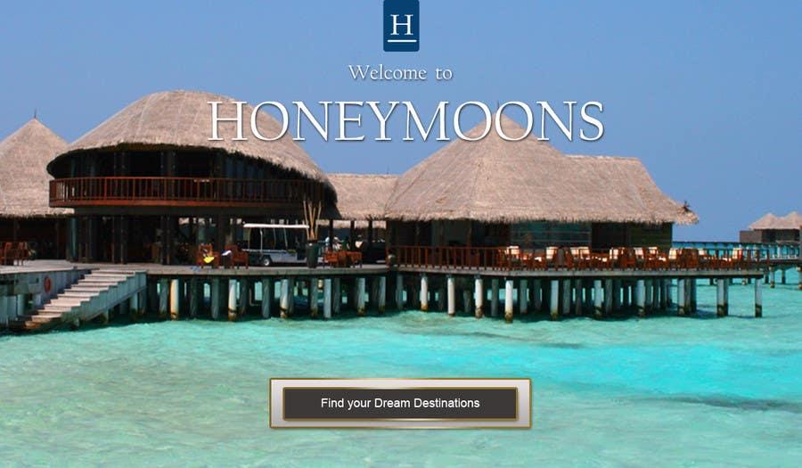 Penyertaan Peraduan #                                        36                                      untuk                                         Website Design for Honeymoons website