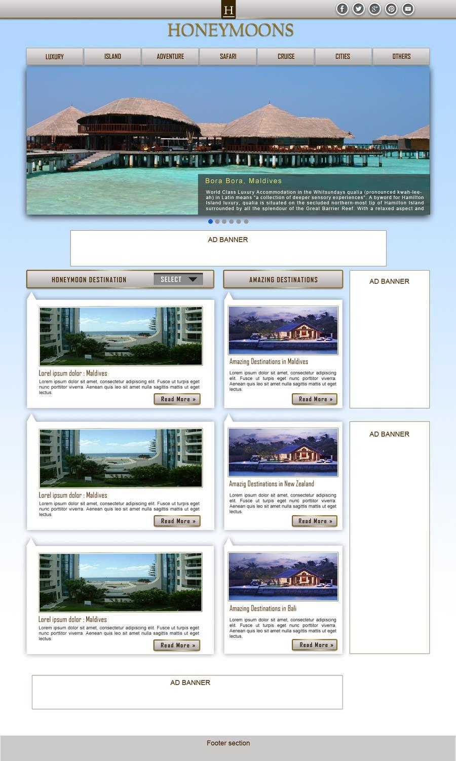 Penyertaan Peraduan #                                        40                                      untuk                                         Website Design for Honeymoons website