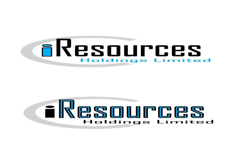 Inscrição nº 60 do Concurso para Logo Design for iResources Holdings Limited