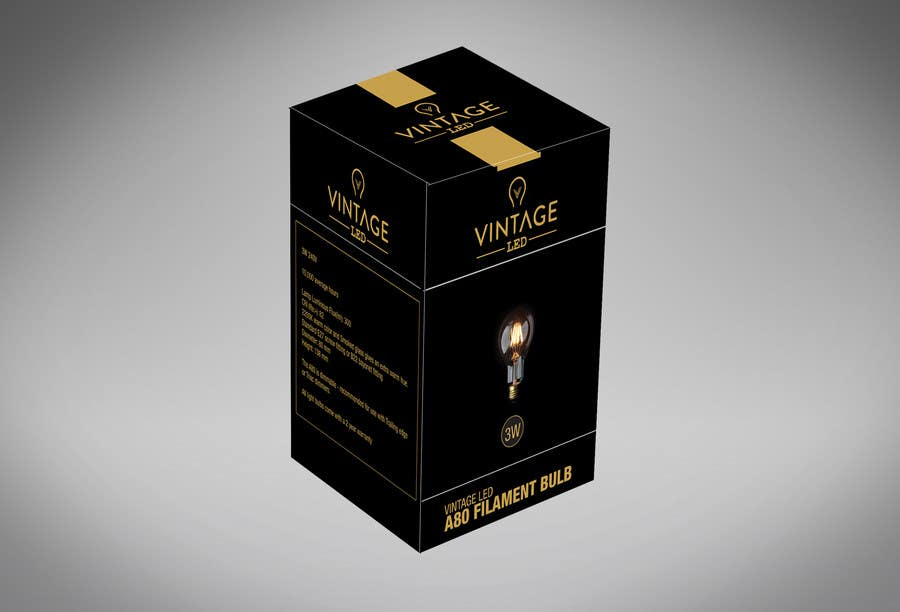 Contest Entry #                                        4                                      for                                         Create Packaging Designs for light bulb boxes (need asap)