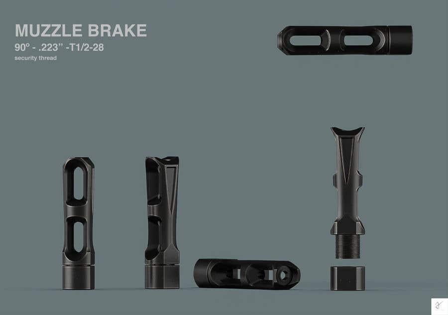 Bài tham dự cuộc thi #                                        84                                      cho                                         Design 3 unique and effective muzzle brakes