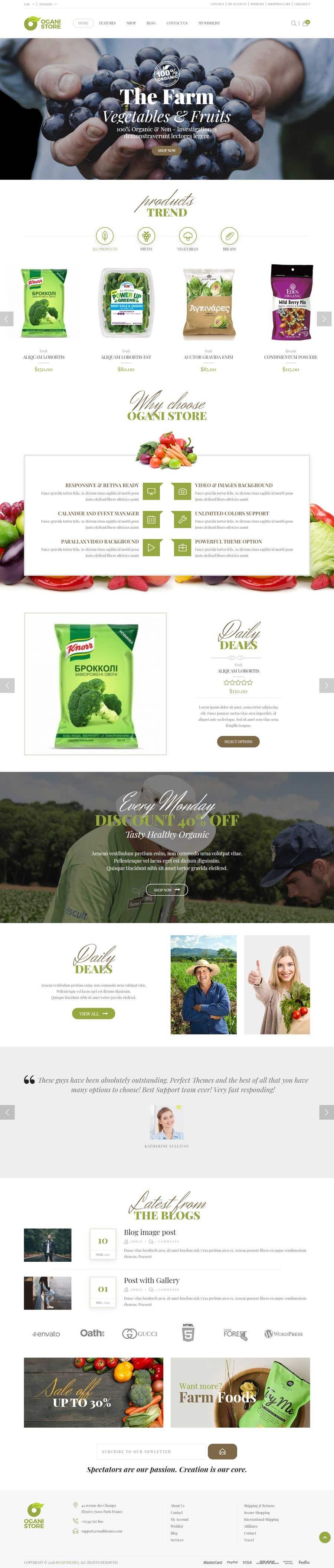 Penyertaan Peraduan #                                        34                                      untuk                                         Home page for online bio organic shop