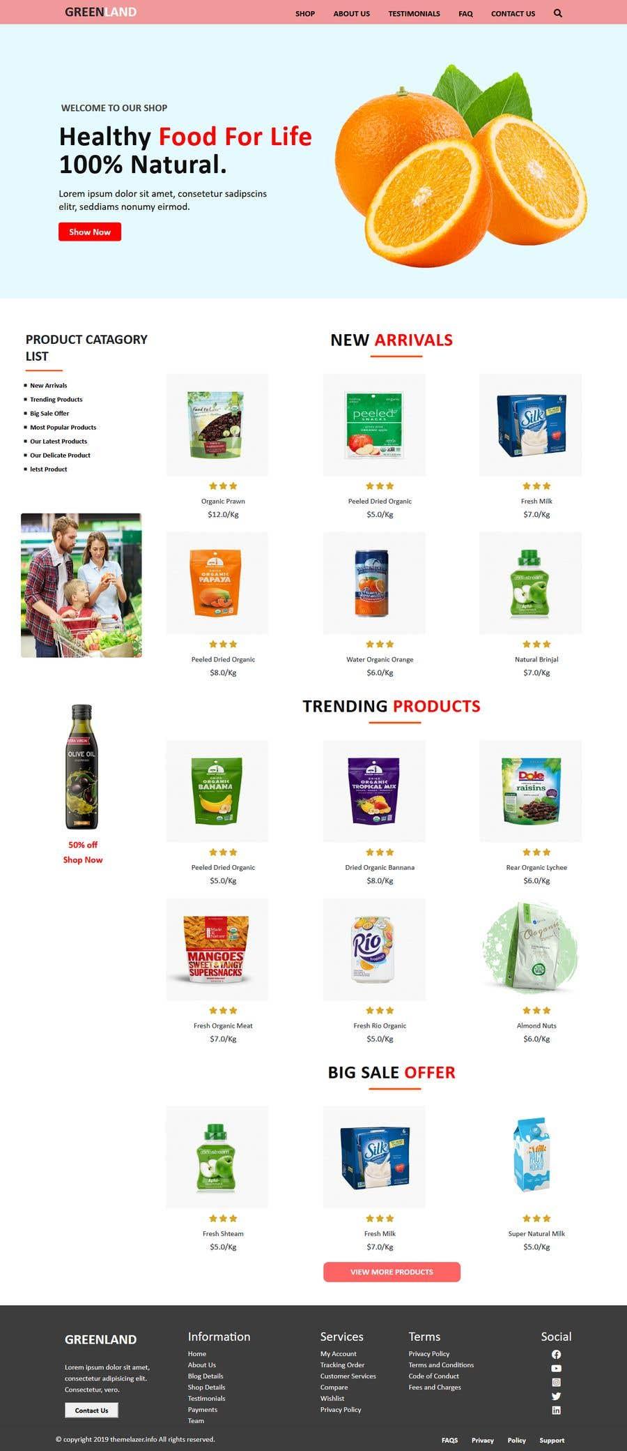 Penyertaan Peraduan #                                        31                                      untuk                                         Home page for online bio organic shop