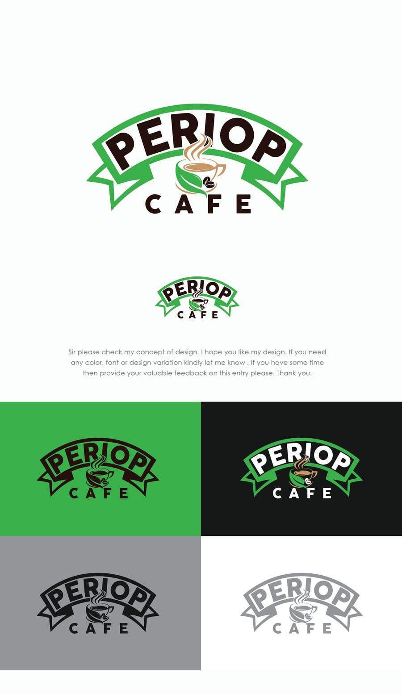 Конкурсная заявка №                                        1648                                      для                                         Periop Cafe logo design