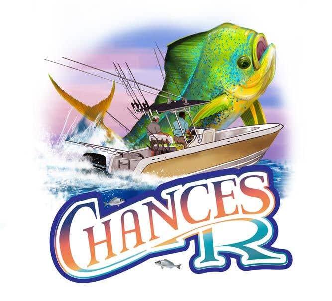 Kilpailutyö #                                        80                                      kilpailussa                                         Boat + Fishing Shirt Design