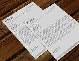 Nro 176 kilpailuun A4 letterhead design käyttäjältä atikchowdhury55