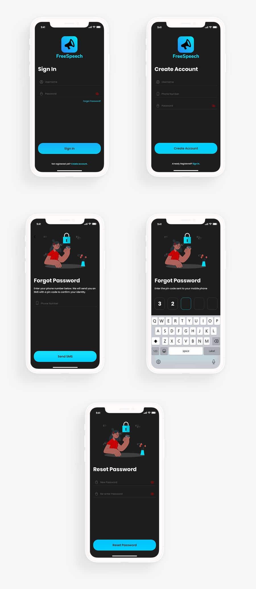 Contest Entry #                                        17                                      for                                         Design 4 mobile app screens