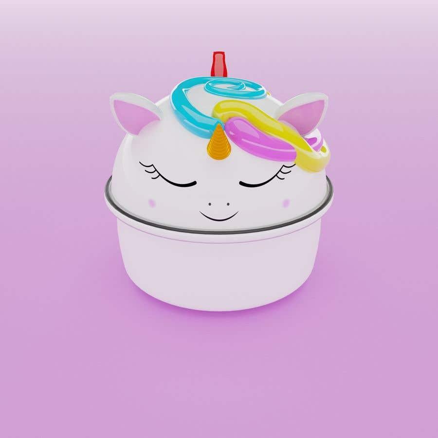 Konkurrenceindlæg #                                        8                                      for                                         Product Design Mock-up - Unicorn Ceramic Bowl