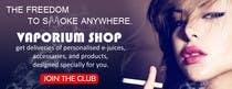 Design 350 x 100 Banner for Vape E-Cig Juice website için Graphic Design12 No.lu Yarışma Girdisi