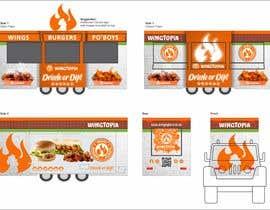 #11 for Food Van Design for Fast Food Restaurant af yolandiejonker