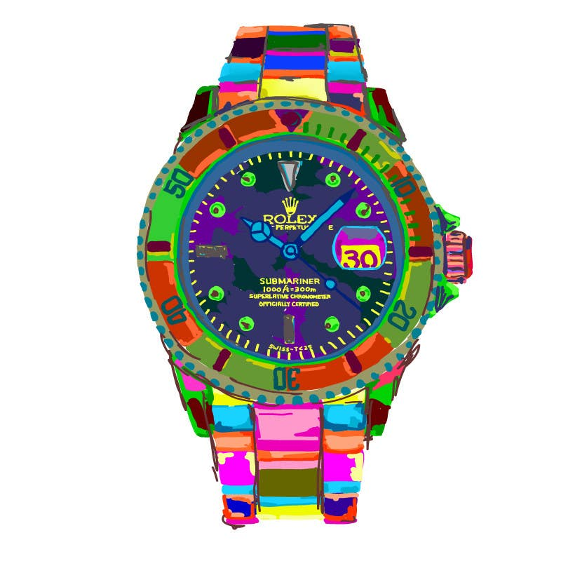 Contest Entry #                                        7                                      for                                         Artistic Crazy Edge On Watch Face