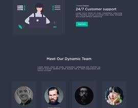 #44 untuk Design 1 landing page for a developer team oleh parthoprothim