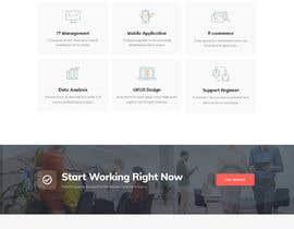 #36 untuk Design 1 landing page for a developer team oleh freelancerasraf4