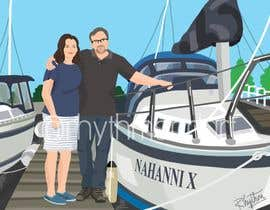 Nro 55 kilpailuun Illustrate a painting of me and my partner käyttäjältä rhythmandart