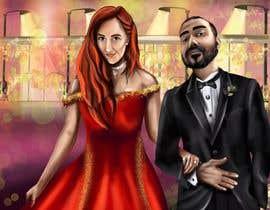 Nro 43 kilpailuun Illustrate a painting of me and my partner käyttäjältä Murkmalik