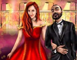 Nro 44 kilpailuun Illustrate a painting of me and my partner käyttäjältä Murkmalik
