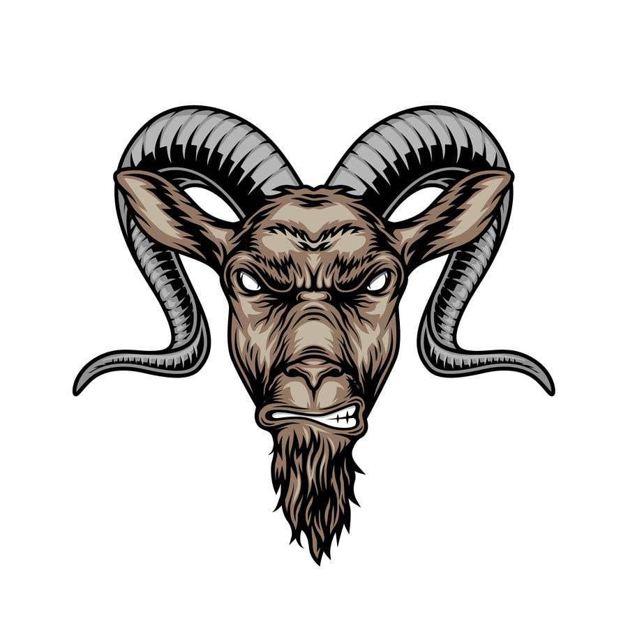 """Intrarea #                                        15                                      pentru concursul """"                                        Cool laid back goat head                                     """""""