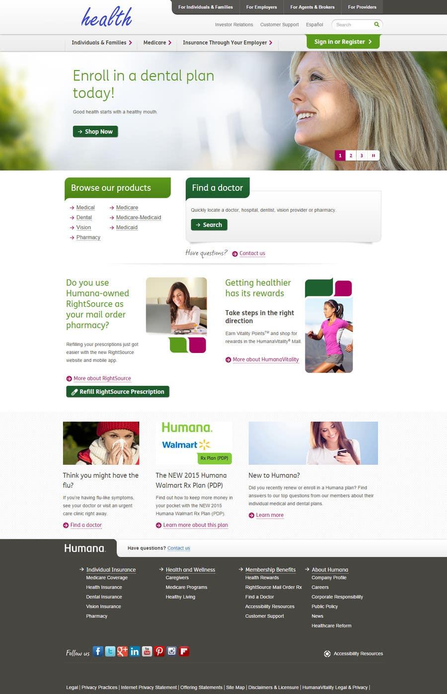 Konkurrenceindlæg #22 for A Website for a Health Insurance Company.