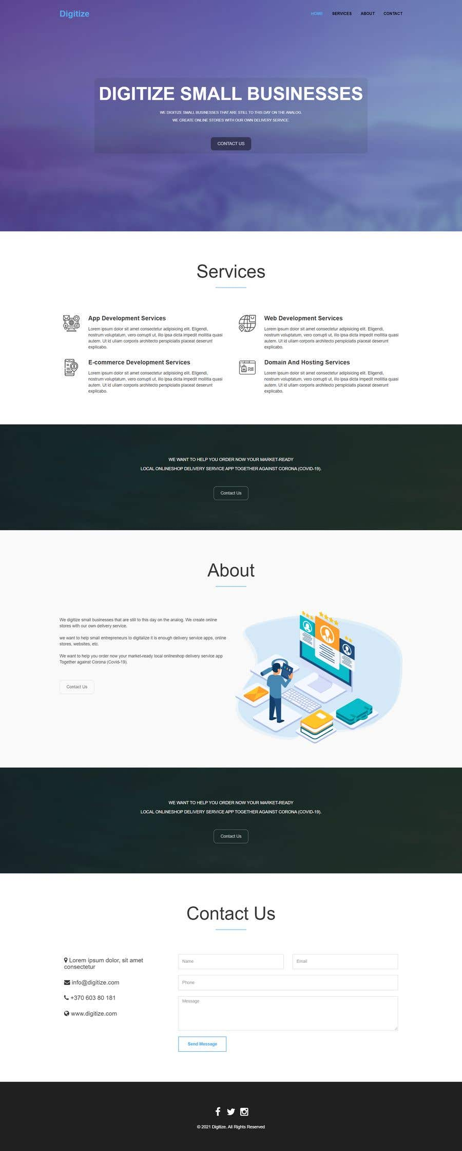 Bài tham dự cuộc thi #                                        42                                      cho                                         I need a Landing Page Website for Small Business Stores