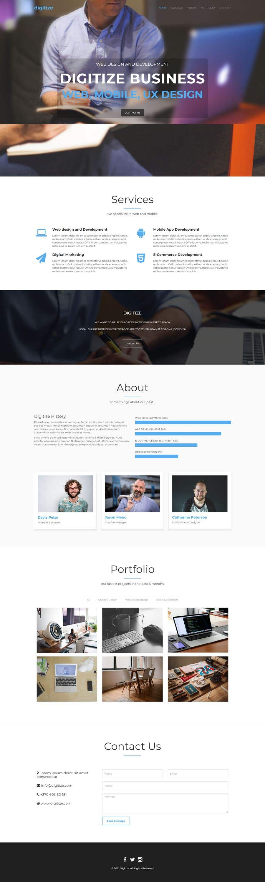 Bài tham dự cuộc thi #                                        49                                      cho                                         I need a Landing Page Website for Small Business Stores