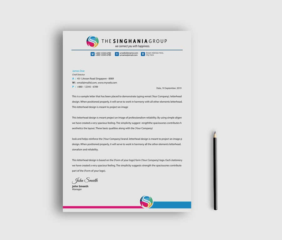 Contest Entry #                                        12                                      for                                         A premium letterhead to be designed.