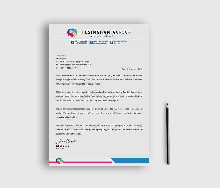 Konkurrenceindlæg #                                        13                                      for                                         A premium letterhead to be designed.