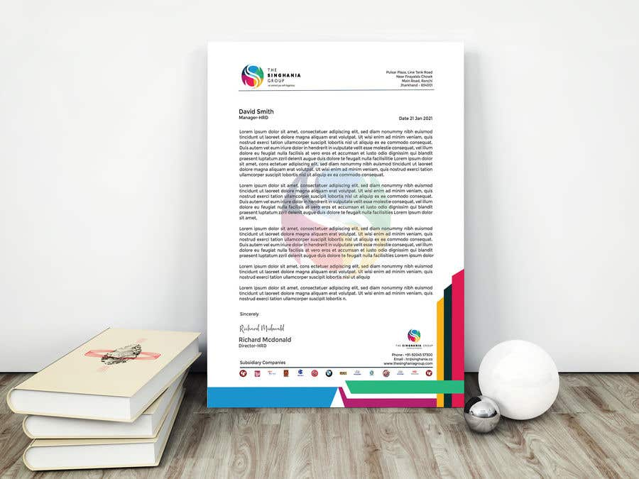 Contest Entry #                                        70                                      for                                         A premium letterhead to be designed.