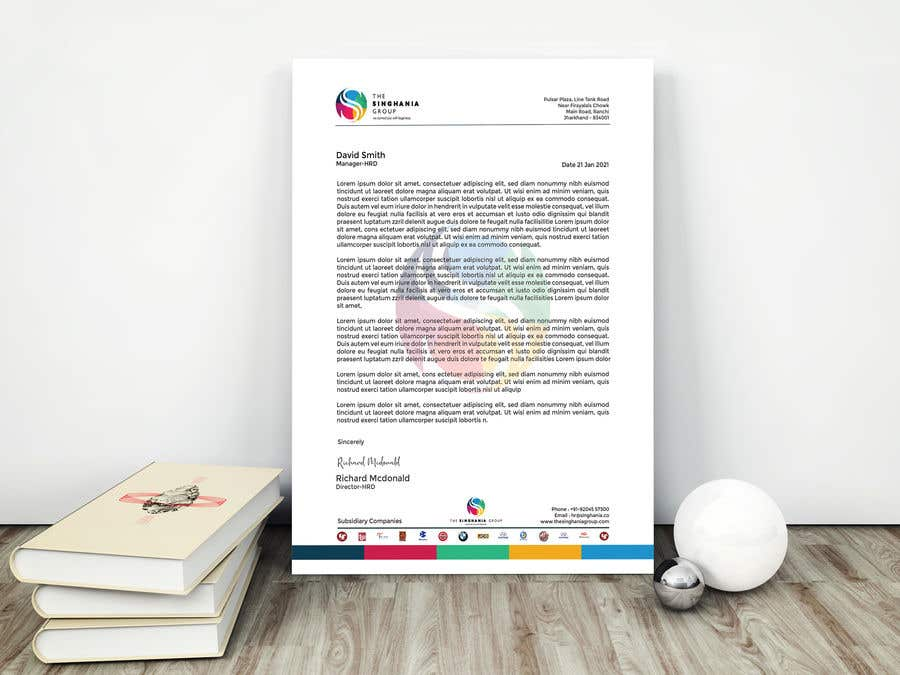 Konkurrenceindlæg #                                        73                                      for                                         A premium letterhead to be designed.