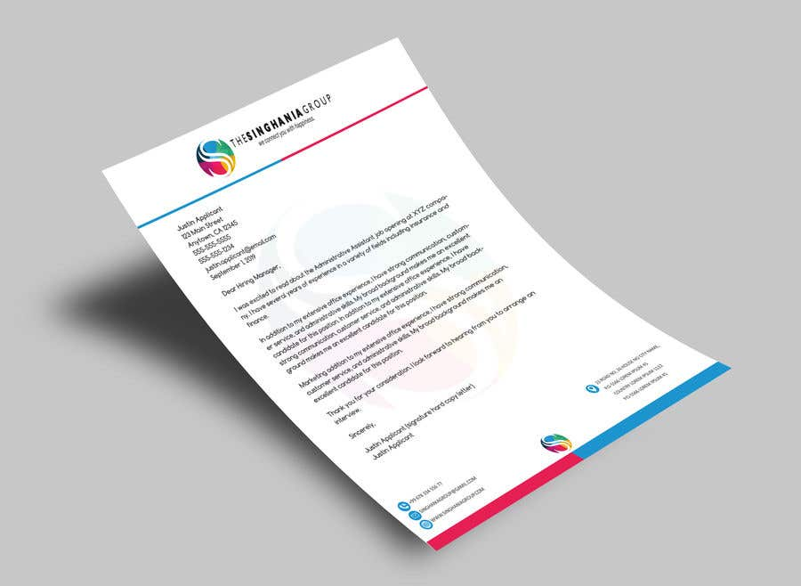 Contest Entry #                                        69                                      for                                         A premium letterhead to be designed.