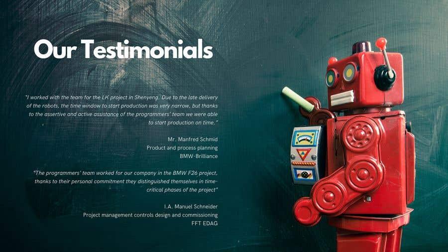 Конкурсная заявка №                                        10                                      для                                         Build me a company technical resume