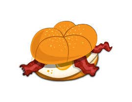 #21 for Design a Bacon and Egg roll emoticon af Ranaislam01409