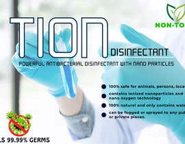 #13 para Label  design with illustration for a disinfectant with nanoparticles por ZahidulAlam631