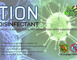 #25 para Label  design with illustration for a disinfectant with nanoparticles por clickgraphicsbd