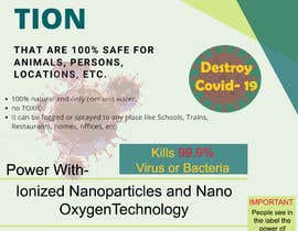 #7 para Label  design with illustration for a disinfectant with nanoparticles por nsdhaula